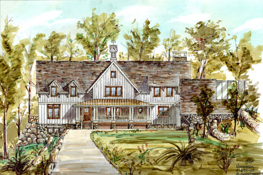 Woodland Farmhouse Retreat | WESKetch Architecture and Construction